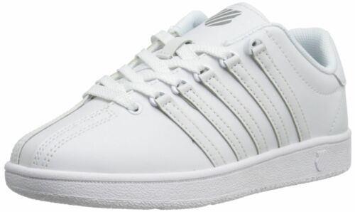 K-Swiss Classic VN Varsity White//White Kids Youth Leather Shoes 83343-101-M