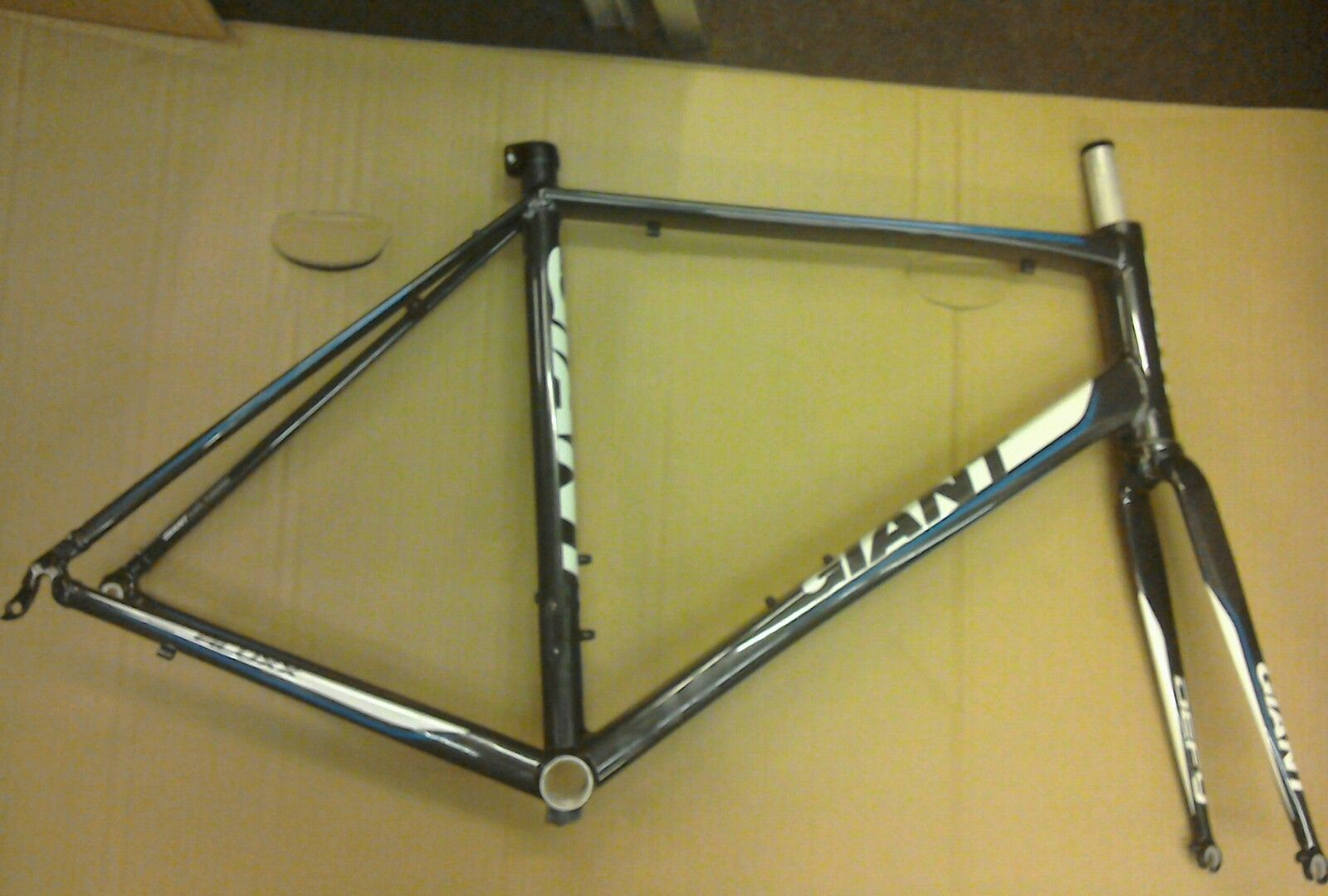 NUOVO Giant Defy 5 telaio e forcelle. NN. L 55.5cm