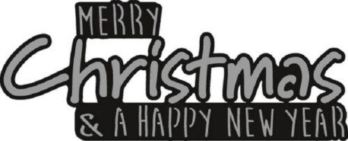 Marianne d Craftables Die Cut Realzar Stencil Feliz Navidad CR1327 *