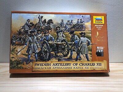 8066 Zvezda model kit swedish artillery of charles XII scale 1//72