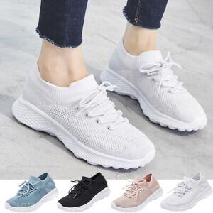 Women-039-s-Sport-Running-Shoes-Breathable-Lightweight-Mesh-Walking-Slip-On-Sneakers