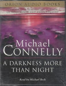 Michael-Connelly-A-Darkness-More-Than-Night-4-Cassette-Audio-Book-Crime-Thriller