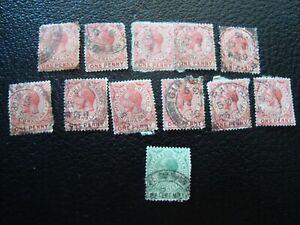 Gibraltar-12-Gestempelte-Briefmarken-A37