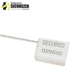 Sellos de Seguridad A Cable Metálico En Acero 1,5mm Con Numeración Serial