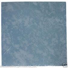 28 x Pavimento In Vinile - Adesivo, Bagno Cucina - Blu Tinta Unita Marmo 196