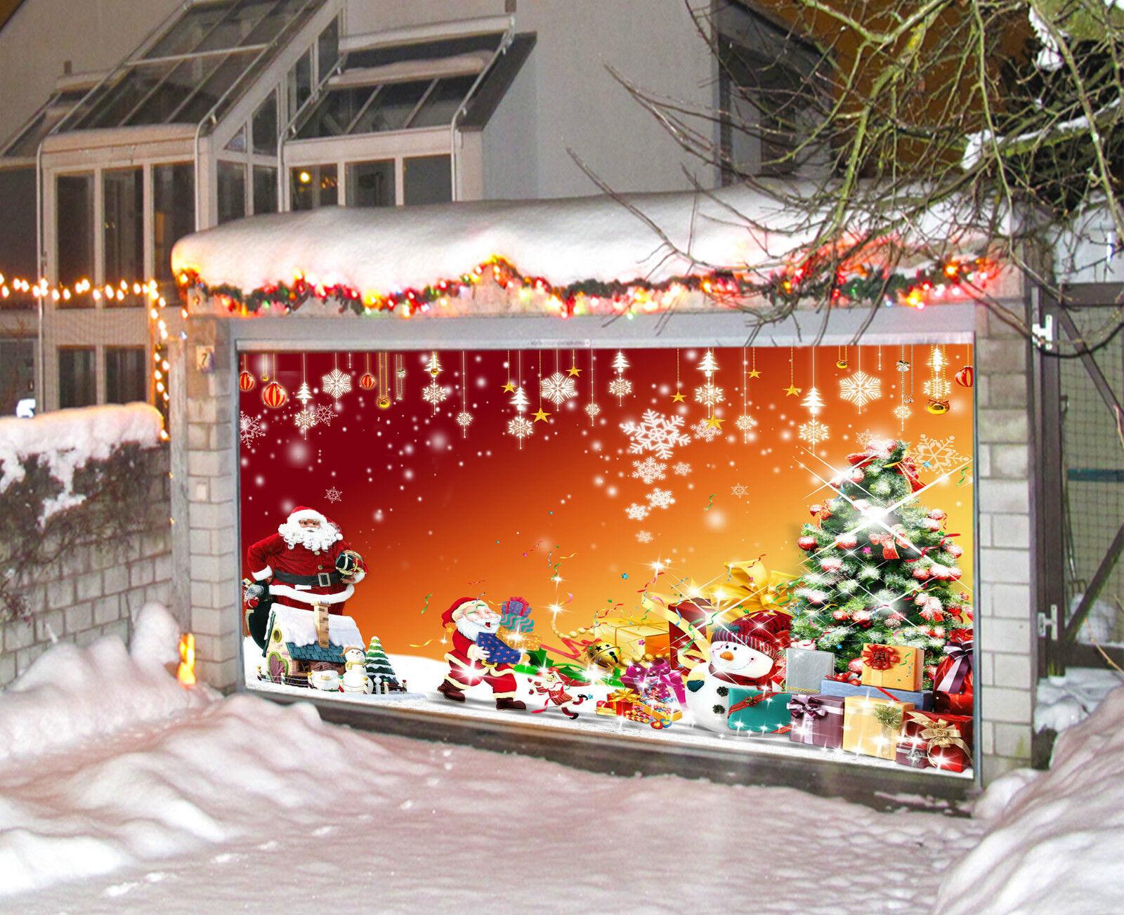 3D Cadeau Père Noël 961 Garage Porte Peint en Autocollant Murale AJ WALLPAPER FR