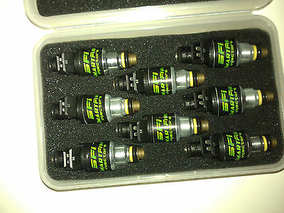 NEW 8X 96LB 960CC HI IMPEDANCE RACING FUEL INJECTORS EV1 E85 SAFE FORD CHEVROLET