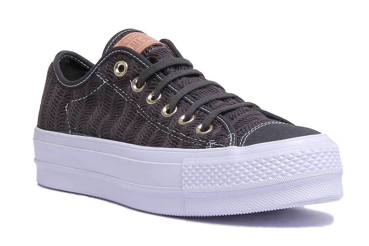 Converse Chuck Taylor All Star Lift Herringbone Women Grey Trainer Size UK 3 - 8
