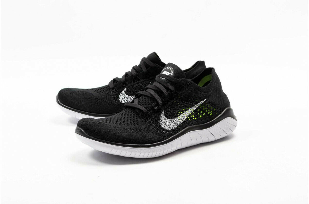 Men's Nike Free Free Free Run Flyknit 2018- Black White (942838-001) 0ce030