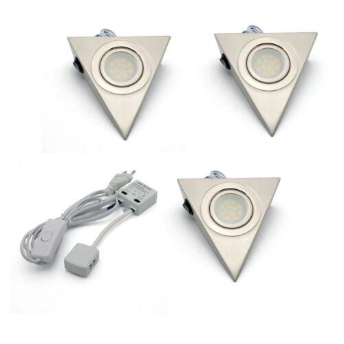 3er LED Aufbauleuchte Unterbauleuchte Dreieck Schrankleuchte Küchenleuchte