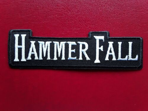 HAMMER FALL SWEDISH HEAVY METAL ROCK MUSIC BAND EMBROIDERED PATCH UK SELLER