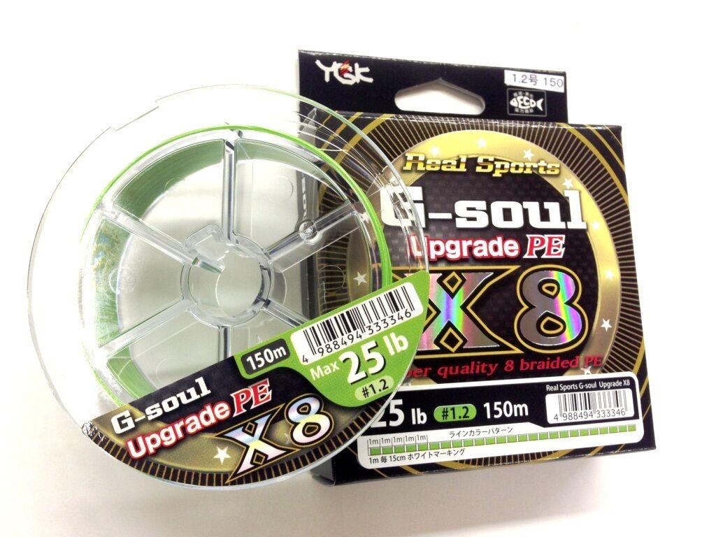 YGK YOZ-AMI Real Sports G-Soul Upgrade X8 8braided line.
