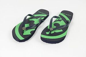 cfe88491523 Image is loading Tory-Burch-flip-flops-shoes-sandals-blue-green-