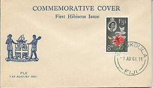 FDC-1st-Hibiscus-Issue-1st-August-1961-Special-Commemorative-Cover