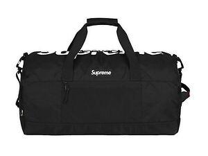 Image Is Loading 2017 S Supreme Cordura Duffle Bag Black Box
