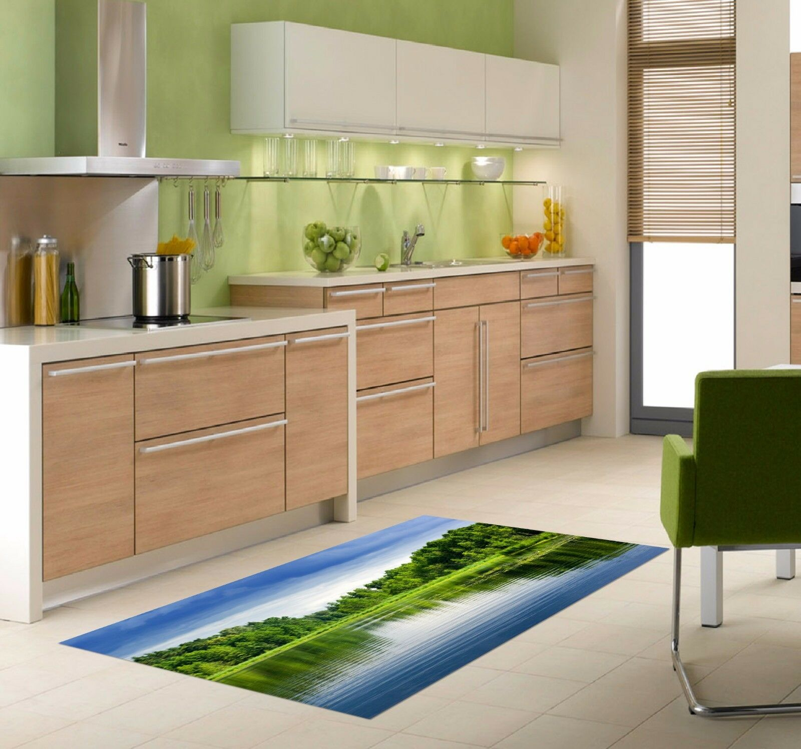 3D Tree Lakes 835 Kitchen Mat Floor Murals Wall Print Wall AJ WALLPAPER UK Kyra