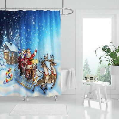 3d Weihnachtsmann 90 Duschvorhang Wasserdicht Faser Bad Daheim Windows Toilette Window Treatments & Hardware