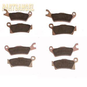 Front Rear Sintered Brake pads Fit 2013-2016 2014 2015 Can-Am Outlander 800R XT