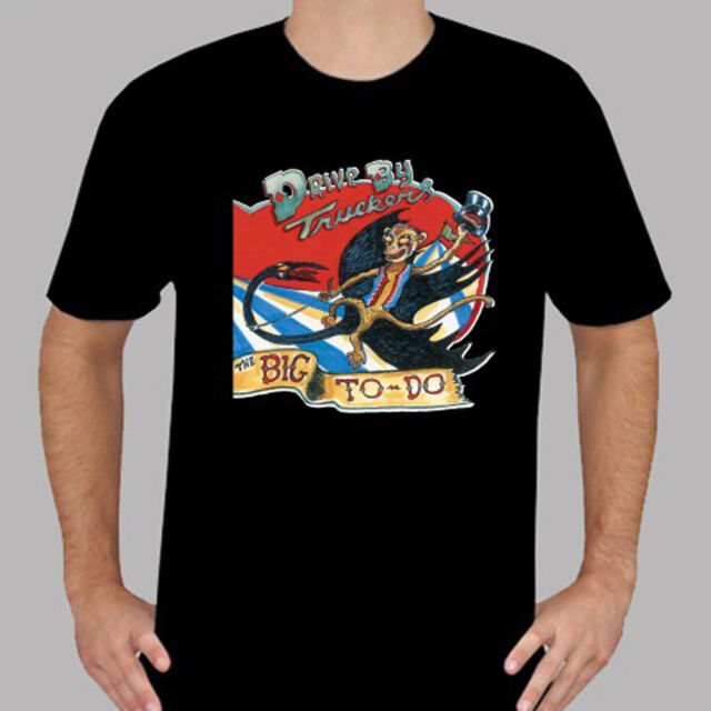 New Drive-By Truckers Rock Band Album Cover Logo Mens Black T-Shirt Size S-3XL