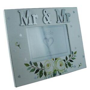 Mr-amp-Mr-Photo-Frame-Wedding-Present-Venue-Decor-Anniversary-Gift-Floral-4x6-034