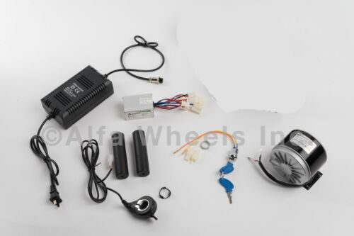 350 W 24 V electric motor kit w speed control Thumb Throttle Charger /& Key lock