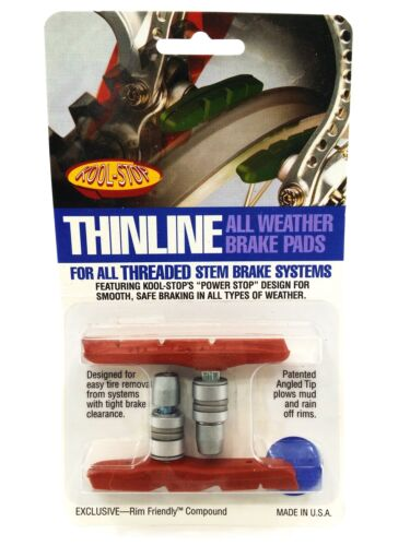 Kool-Stop Thinline MTB V Brake Pads Threaded Extreme Condition Salmon