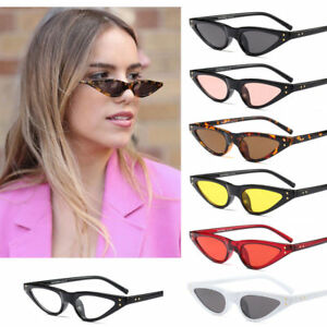 4c625d130c Image is loading Hot-Retro-Small-Cat-eye-Sunglasses-Oval-Steampunk-