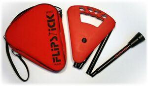 Gehstock-FLIPSTICK-Sitzstock-samtiges-rot-faltbar-Leichtmetall-Klappsitz