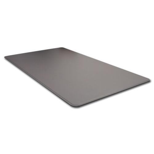 Schreibunterlage Leder Grau Abgerundeten Kanten und Gleitschutz cm 65x45