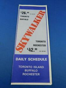 SKYWALKER-AIRLINES-TIMETABLE-DAILY-SCHEDULE-ADVERTISING-TORONTO-BUFFALO