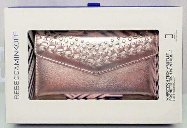 sale retailer cb999 1720e Rebecca Minkoff Whipstitch Tech Wristlet Metallic Lilac iPhone 7