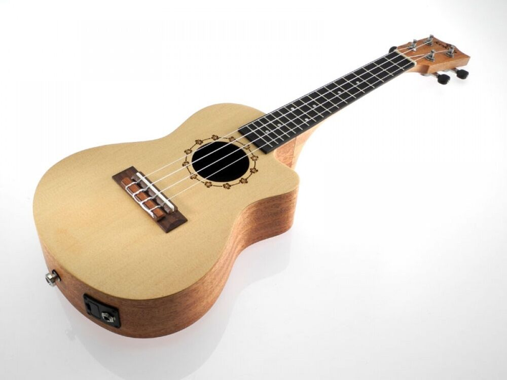 Kokio abete-MOGANO Cutaway Concert concerto ukulele, elettrica, con borsa