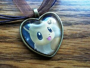 Pokemon-Card-Trading-Eevee-Eeveelution-Charm-Pendant-Glass-Necklace-Cosplay-cute