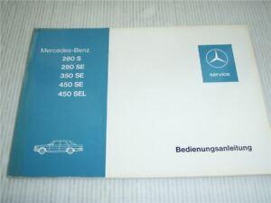 Mercedes-Benz-280S-280-350-450-SE-SEL-W116-Betriebsanleitung-Bedienungsanleitung