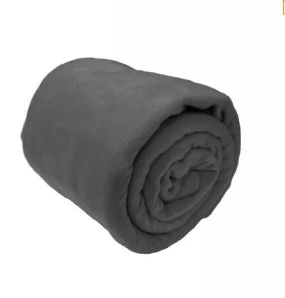 & A-express ® Grigio 225 X 254cm Caldo Coperta In Pile Morbido Copertura Divano Letto 14:1 Buono Per L'Energia E La Milza