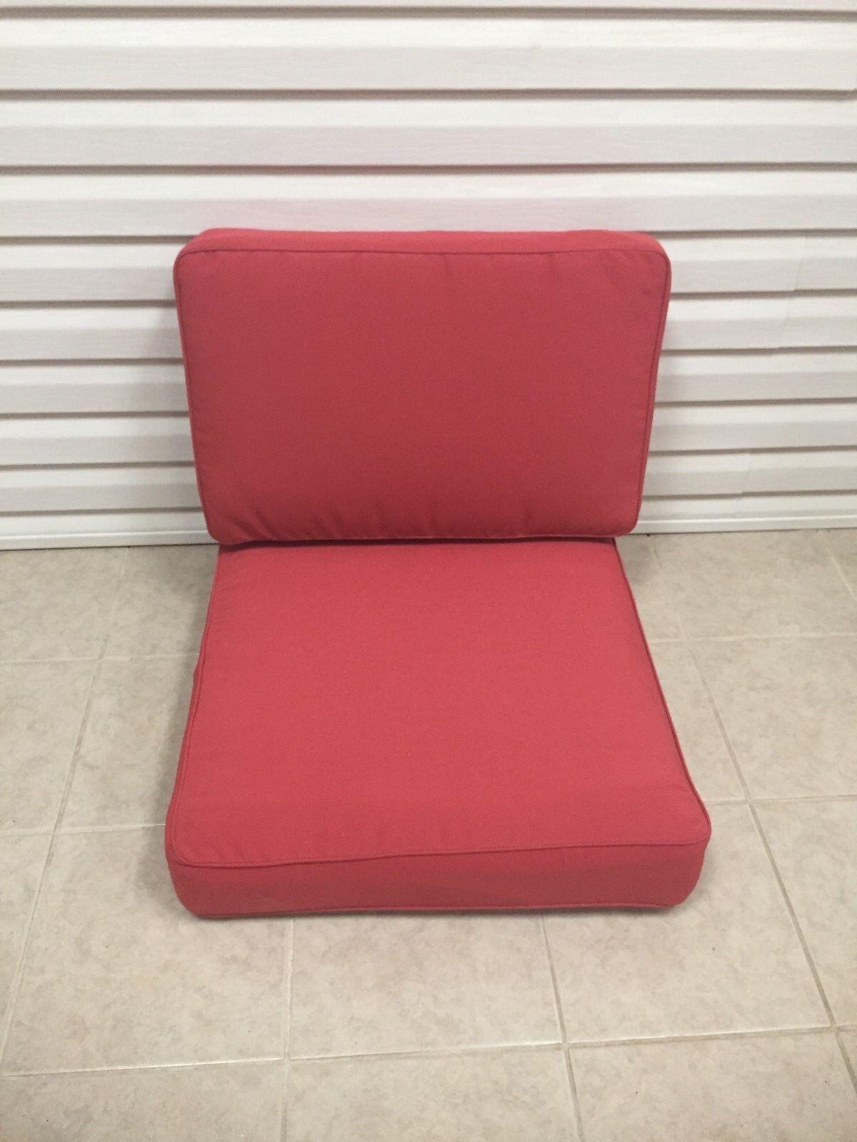 2 PC frontgate profundo asiento Lounge Cojines de Silla Sofá de patio al aire libre 26x26 Nuevo