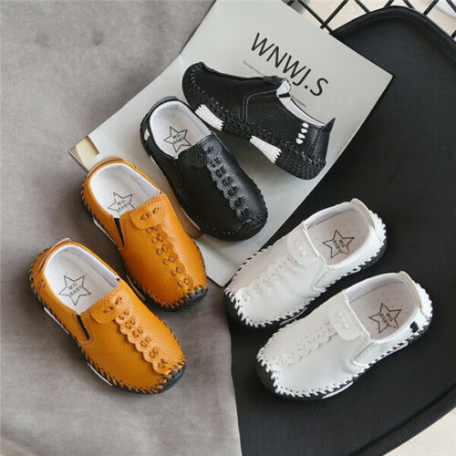 Kids Boys Girls Non-Slip Flat Loafers Moccasins Toddler Casual School Boat Shoes