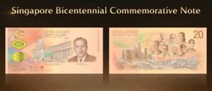 Singapore $20 Bicentennial Commemorative 2019 With Folder (UNC) AG746441