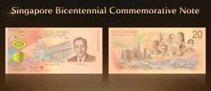 Singapore $20 Bicentennial Commemorative 2019 With Folder (UNC) AG746442