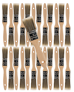 24PK 1  Flat House Wall,Trim Paint Brush Set Home Exterior or Interior Brushes