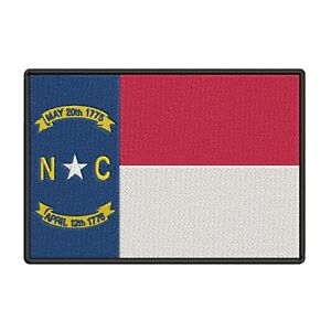 NORTH-CAROLINA-STATE-FLAG-embroidered-iron-on-PATCH-new-APPLIQUE-EMBLEM
