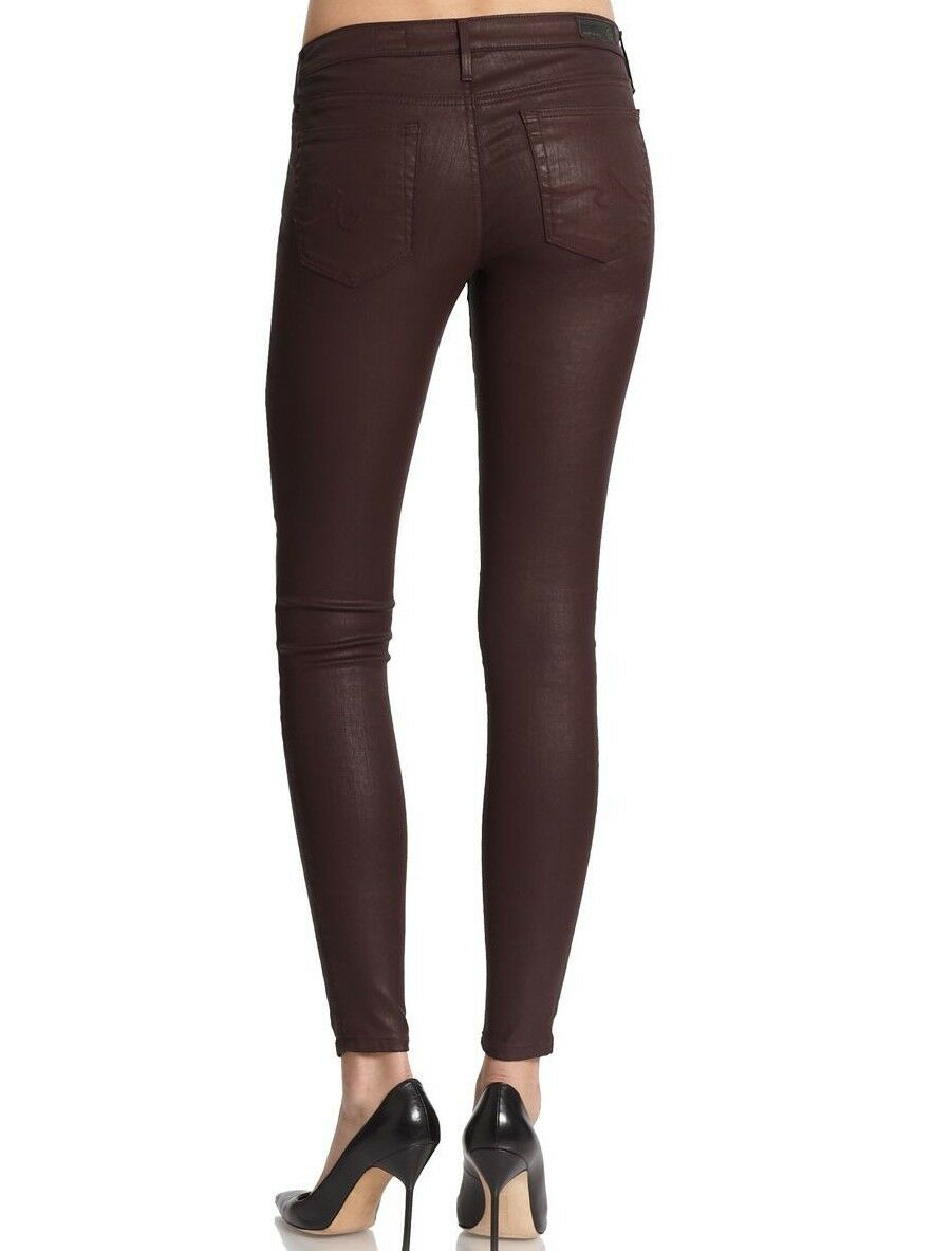 NWT ADRIANO goldSCHMIED Sz29 THE ABSOLUTE LEGGING SKINNY-STRETCH COAT BROWN