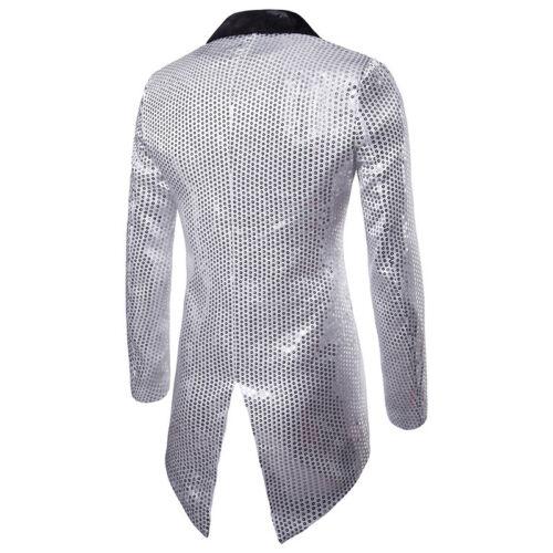 4 sur 12 Hommes Smoking Queue Vestes Manteau Paillettes Club Danse Blazer  Banquet bd8b5243ce4