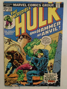 Incredible-Hulk-182-VG-4-0-3rd-Wolverine-No-Marvel-Value-Stamp