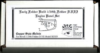 Copper State Models 1//28 FOKKER D.VII ENGINE PANELS EARLY VERSION Resin Kit