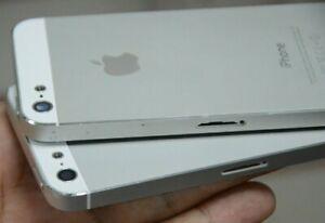 IPhone-5-Alloggiamento-Telaio-Posteriore-Argento-COVER-CON-PARTI-Grade-BC-ORIGINALE