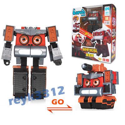 Fun Larva Robot Transformation Car Toy Action Figure Deformation Red Gift