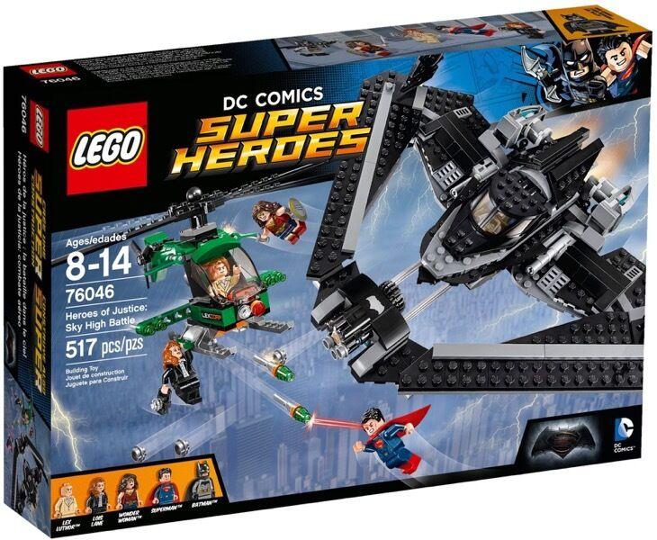 LEGO SUPER HEROES 76046 EROI DELLA GIUSTIZIA  BATTAGLIA NEI CIELI ny NY