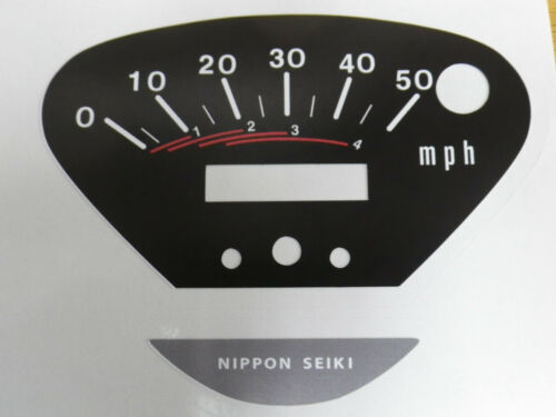 Honda CT70 Speedometer Decals Four Speed, Trail 70 Speedometer 4 Speed, CT70H