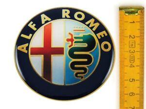 alfa romeo 4 st ck silikon 65mm aufkleber emblem. Black Bedroom Furniture Sets. Home Design Ideas